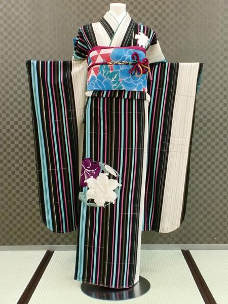 振袖 ふりそで 振袖レンタル 着物 フルセット 送料無料 結婚式 成人式 着物レンタル 【JAPAN STYLE】 刺繍 モダン L-5103