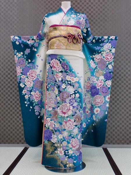 振袖 ふりそで 振袖レンタル 着物 フルセット 送料無料 結婚式 成人式 着物レンタル モダン L-5104