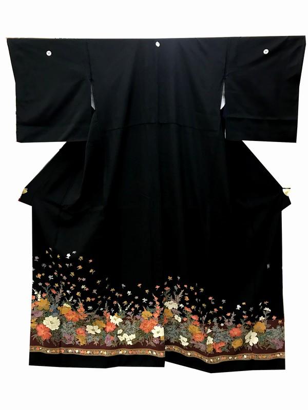留袖レンタル レンタル留袖 着物 着物レンタル 結婚式 貸衣装 女性和 黒留袖 A7-30-874