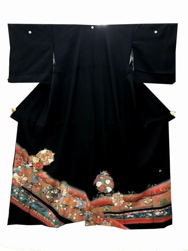 留袖レンタル レンタル留袖 着物 着物レンタル 結婚式 貸衣装 女性和 黒留袖 A10-742