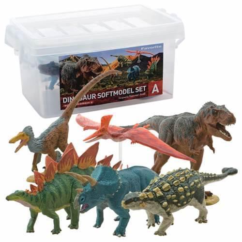 リアルでカッコいい恐竜フィギュア 恐竜 ダイナソー ソフトモデル 6体 フィギュア 本物◆ ボックスセット 模型 収納にも便利なプラBOX入り 新品
