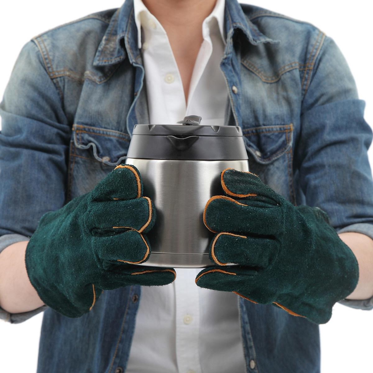 カッコよく安全にスマートに 革手 皮手 推奨 耐熱 アウトドア 耐熱グローブ 耐熱手袋 保護手袋 アウトドアー セミロング 今だけ限定15%OFFクーポン発行中 レザー ダッチオーブン 火起こし まきストーブ 暖炉 BBQ 牛革 手袋