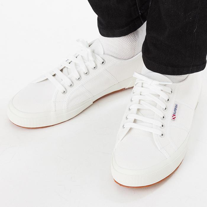 【サマーセール開催中】スペルガスニーカー靴シューズメンズレディースキャンバスカジュアルSUPERGA2750COTUCLASSIC白ホワイト