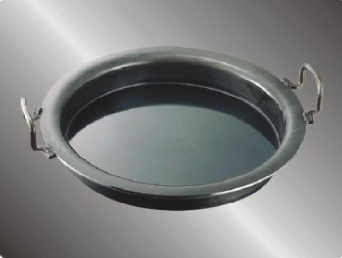 45cm鉄餃子鍋 鉄鍋 鉄板 取っ手付 業務 キッチン 厨房 屋台 おつまみ 002007 内径φ450*H40