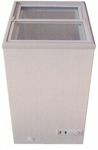 【新品・送料無料・代引不可】三ツ星貿易 エクセレント 冷凍ストッカー コンパクトストッカー ガラススライド扉仕様 MS-062G W475*D555*H830