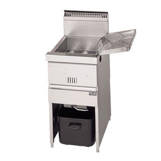 【新品・送料無料・代引不可】マルゼン MGF-C40K ガスフライヤー 涼厨フライヤー 880*610*800 LPガス