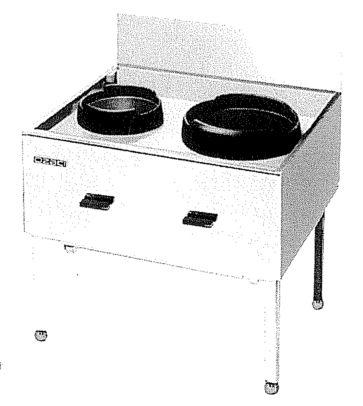 【中華レンジ】オザキ [ 2口レンジ 幅90cm ] ガス ブラスト タ-ボ OZ90-75CTC 都市ガス13A W900*D750*H750(mm)