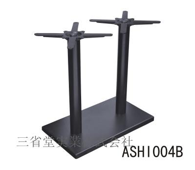 4人用テーブル用脚 角底板 組み立て 家具 テーブル 足 ホール 机 飲食 底部700*400mm/受け座330*330/ポールH660mm ASHI004BL