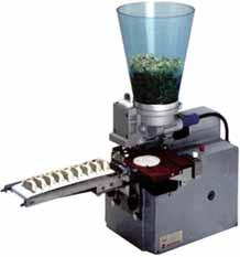 卓上型餃子成形機 単相100V 65W 1,500個/毎時 W255*D343*H408mm(ホッパー込み701mm) STMA-G-2060