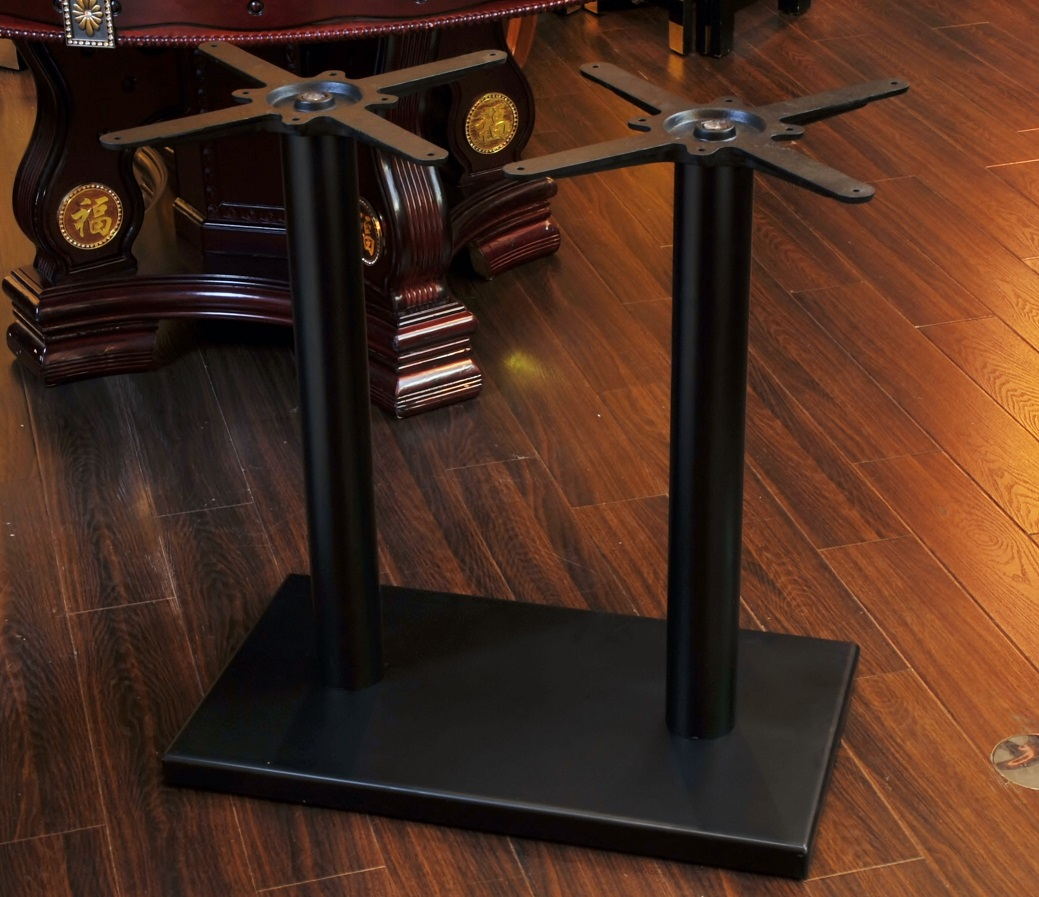 接受两个人桌子钱角底板组装家具桌子脚礼堂桌子饮食底部400*400mm/座位330*330/杆H660mm ASHI002BL