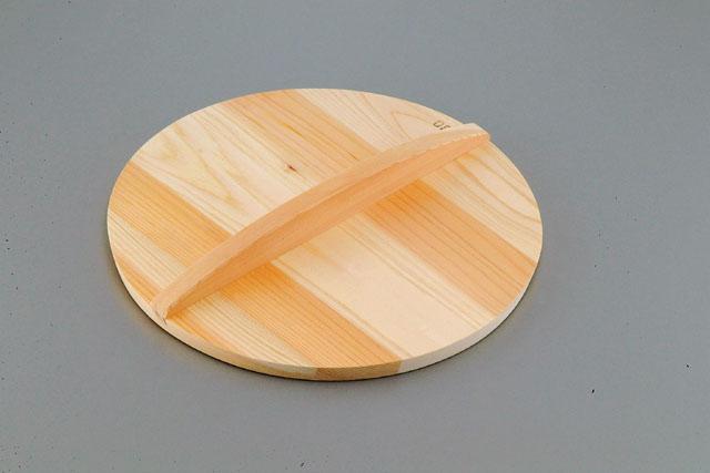 60cm厚手サワラ木蓋 小籠包 鍋 押さえ 木 仕込み 底径45cm焼き小籠包鍋用 焼き 調理 厨房 017148 φ600*厚15