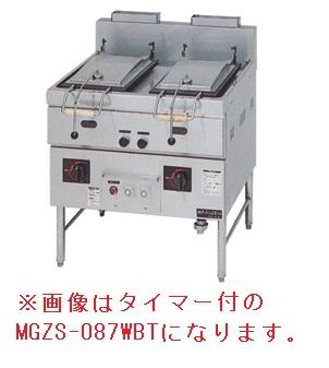 【新品・送料無料・代引不可】マルゼン ガス餃子焼器~~ 本格派シリーズ 2口鍋~~ MGZS-087WB