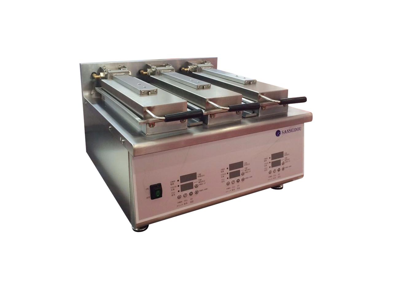 【海外向け商品・代引不可】電気自動餃子焼器 3連式 卓上タイプ 三省堂実業製 STDM-T-E3 W600×D631× H410