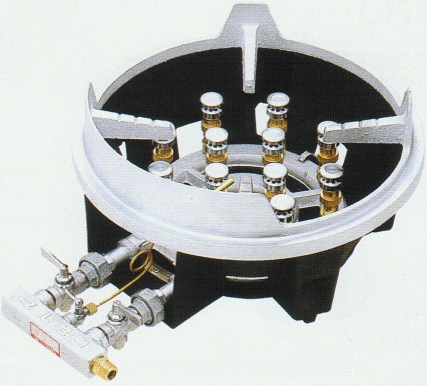 卓上式スーパージャンボバーナー・都市ガス、LPガス 厨房機器 調理機器 MG-12J W557*D345*H219(mm)