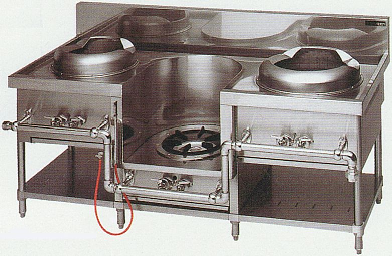 中華レンジ(マルゼン)・イタメ、スープ、麺 厨房機器 調理機器 MRS-103C W1750*D750*H720(mm)