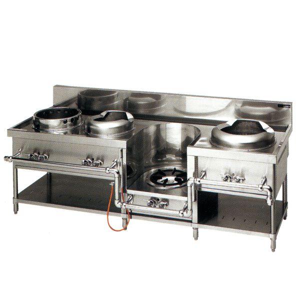 中華レンジ(マルゼン)・餃子、イタメ スープ、麺 厨房機器 調理機器 MRS-104C W2200*D750*H720(mm)