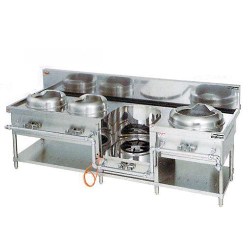 中華レンジ(マルゼン)・イタメ2、スープ、麺 厨房機器 調理機器 MRS-104DC W2200*D750*H720(mm)