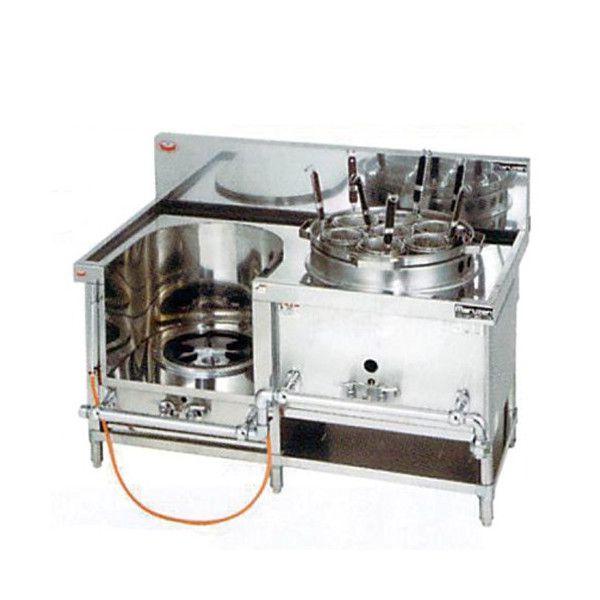 中華レンジ(マルゼン)・スープ麺(フリザル) 厨房機器 調理機器 MRS-172C W1300*D750*H750(mm)