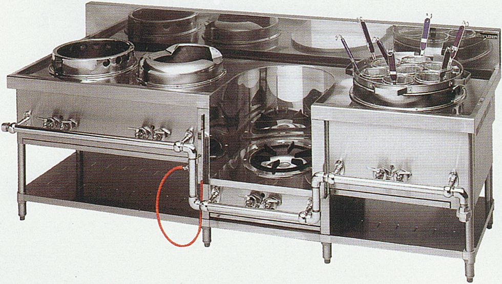 中華レンジ(マルゼン)・餃子、イタメ スープ、麺(フリザル) 厨房機器 調理機器 MRS-174C W2250*D750*H720(mm)
