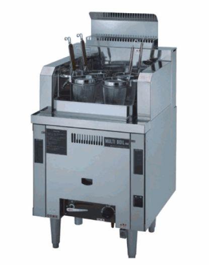 自動茹で麺機マルチ・ボイル4連タイプ (ガス式) 厨房機器 調理機器 業務用 NSU-4-60H W600*D600*H750(mm)