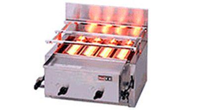 ガス赤外線グリラー(リンナイ)・下火式 厨房機器 調理機器 RGA-404B W580*D580*H305(mm)
