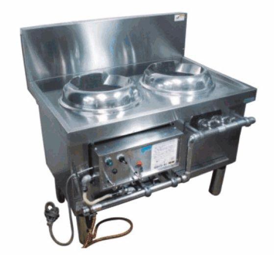 特注ブラスト中華レンジ(静音タイプ)・炒め(ブラスト・加風)、スープ、茹で麺 厨房機器 調理機器 STCR-1720BRL  W1720*D750*H750(mm)
