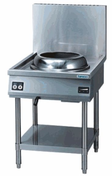 IH中華レンジ・スタンドタイプ、450専用両手鍋、ダストボックス付属 厨房機器 調理機器 TICR-606 W600*D750*H750(mm)