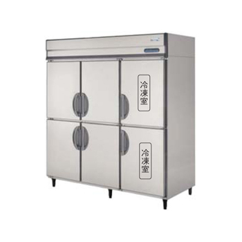 縦型冷蔵冷凍庫D800mm内装ステンレス鋼板(福島) 冷蔵4冷凍2 200V 厨房機器 調理機器 URD-182PMD6 W1790*D800*H1950(mm)
