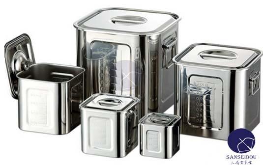 Ag目盛付角キッチンポット 30.0cm(25.0L) 調理道具 ポット 016165 W300*D300*H300(mm)