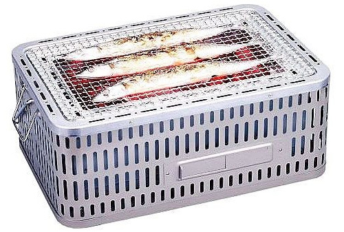 【卓上コンロ】角型卓上 ビッグシチリン団炭 SC-452 調理器具 295120 450×300×H196mm(405×255mm)居酒屋