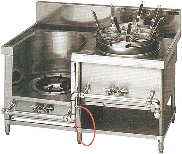 【中華レンジ】マルゼン [ 2口レンジ:外管式 スープ・ゆで麺 ] MRS-172B