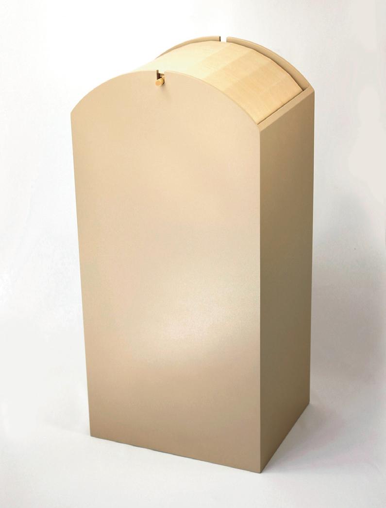 木製ゴミ箱 アーチ ベージュ 5-1269-13