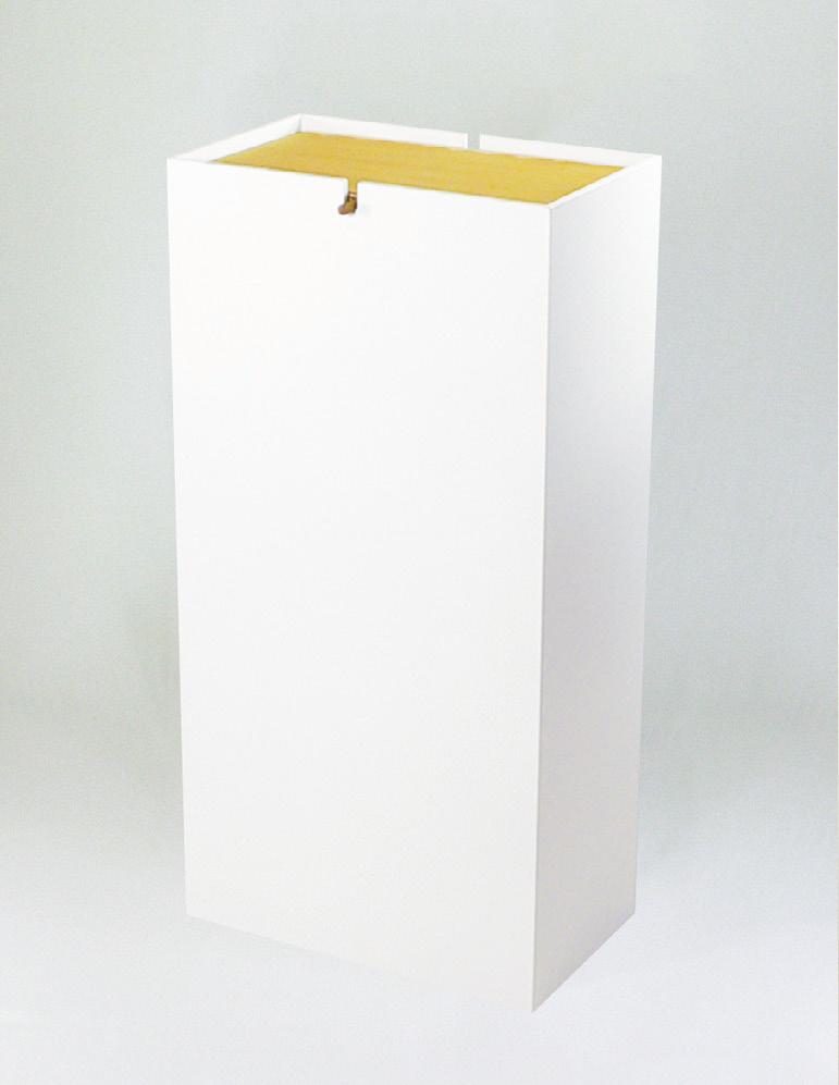 木製ゴミ箱 のっぽ ホワイト 5-1270-2