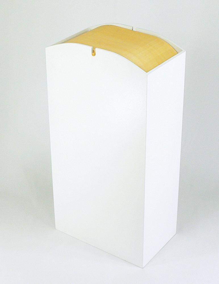 木製ダストBOX Rのっぽ ホワイト 5-1270-5