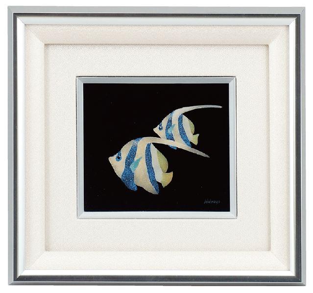 沈金漆パネル 熱帯魚 5-1275-3