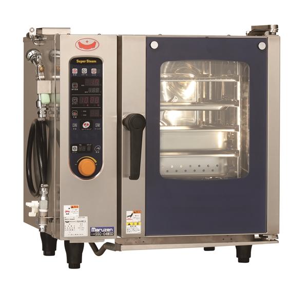 電気スチームコンベクションオーブン 幅600×奥行500×高さ620 三相200V 3.6kW SSC-04MSD
