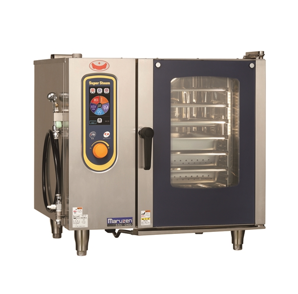 電気スチームコンベクションオーブン 幅845×奥行775×高さ820 三相200V 9.4kW SSC-06D