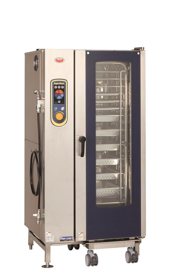 電気スチームコンベクションオーブン 幅875×奥行820×高さ1790 三相200V・単相100V 34.4kW SSC-20D