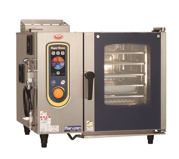 ガススチームコンベクションオーブン 幅820×奥行750×高さ700 単相100V 190W SSCG-05D