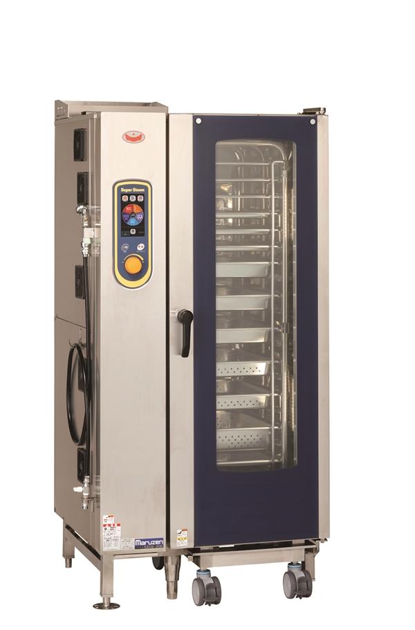 ガススチームコンベクションオーブン 幅910×奥行820×高さ1790 単相100V・単相100V 650W SSCG-20D
