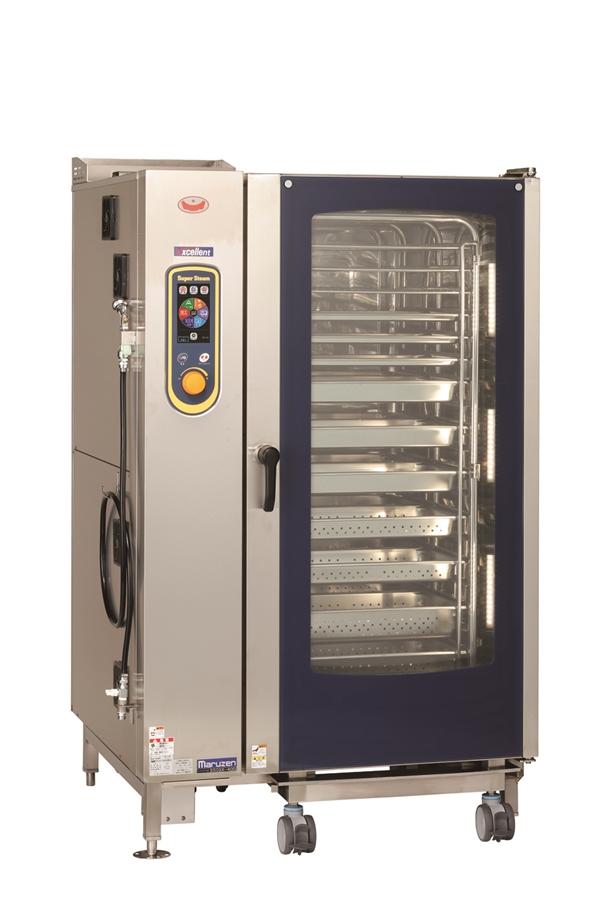 ガススチームコンベクションオーブン 幅1150×奥行1015×高さ1790 三相200V・単相100V 2300W SSCGX-40D
