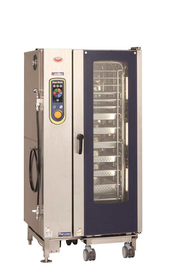 電気スチームコンベクションオーブン 幅875×奥行820×高さ1790 三相200V・単相100V 34.4kW SSCX-20D