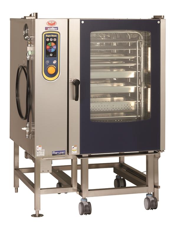 電気スチームコンベクションオーブン 幅1100×奥行1015×高さ1550 三相200V・単相100V 38.8kW SSCX-24D