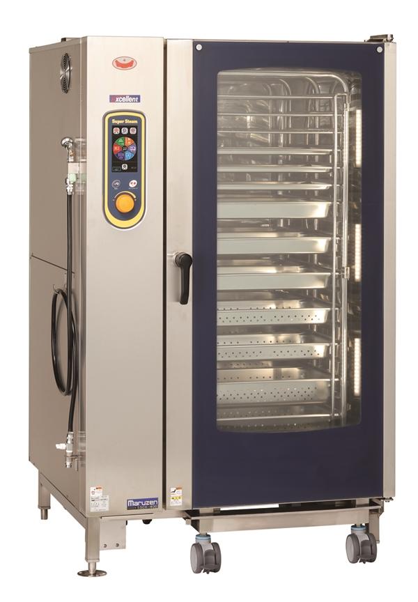 電気スチームコンベクションオーブン 幅1100×奥行1015×高さ1790 三相200V・単相100V 61.8kW SSCX-40D