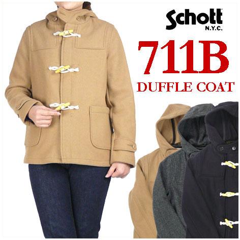 セール Schott ショット レディース ダッフルコート 711B BOYS DUFFLE COAT Made in USA 711B/7241 【送料無料】