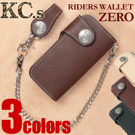 KC'S ケイシイズ ライダース ウォレット ゼロ RIDERS WALLET ZERO コンチョ レザー財布 日本製 送料無料 プレゼント ギフト KNW066