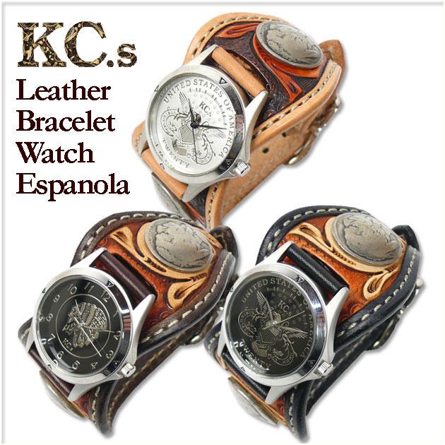KC'S (ケイシイズ) レザーブレスウォッチ --エスパニョーラ/クラフトDX- KPR009/KPR509 【送料無料】プレゼント ギフト