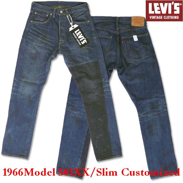 复古 LEVI's (Levi's) 501 XX (1966年模型) 亭亭玉立的定制和一番涂层-