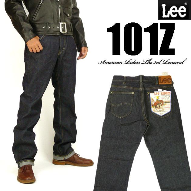 ストレート 101Z 送料無料 ジーンズ リー Lee ワンウォッシュ メンズ LM5101-500 Lee RIDERS AMERICAN RIDERS