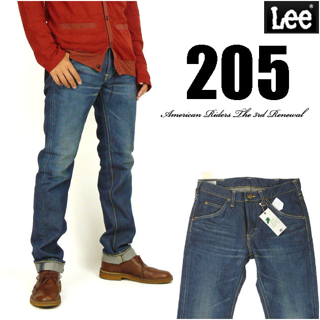 Lee リー メンズ ジーンズ 205 タイトストレート 中濃色ユーズドブルー LM5205-446 Lee RIDERS AMERICAN RIDERS 送料無料